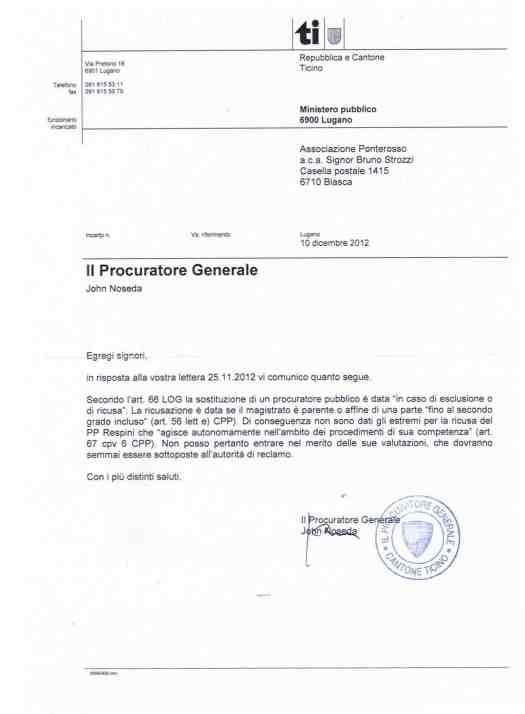 lettera Noseda in risposta alla ns seconda 2012